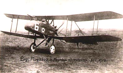 Captured 40 Sqn FE 8 Nov 1916