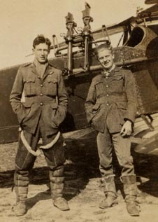 Capts Knights and Gibbons, RFC, No 62 Sqn